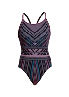 Funkita Diamond Back One Piece Stitched Up - Ladies Rapid Swimshop
