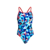 Funkita Diamond Back One Piece Check Republic Ladies Rapid Swimshop