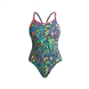 Funkita Diamond Back One Piece Feather Fiesta Rapid Swimshop