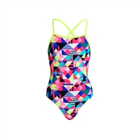 Funkita Strapped In Purple Patch Girls Rapid Swimshop