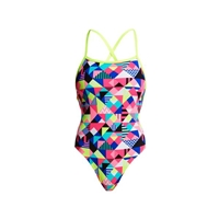 Funkita Strapped In One Piece Purple Patch Ladies Rapid Swimshop