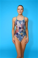 Rapid Swimshop Maru High Rise Sparkle Speed Back  - Ladies