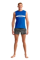 Funky Trunks Rapid Rep Tank Top Racing Stripe- Mens Rapid Swimshop