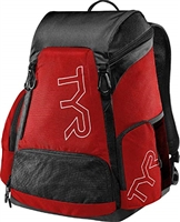 Rapid Swimshop TYR Alliance 45L Backpack Red/Black