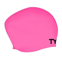 Rapid Swimshop TYR Long Hair Silicone Cap - Pink