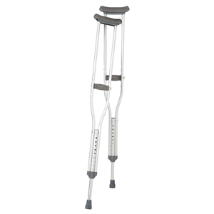 Breg Aluminum Push Button Crutches