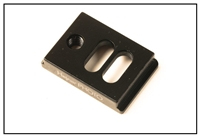 1.00 Inch Plate With Two Slots & 1/4-20 Tapped Hole