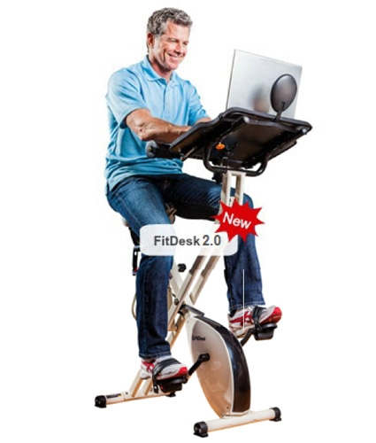 Fitdesk 2 0 Bike Desk Get A Workout At Work With This