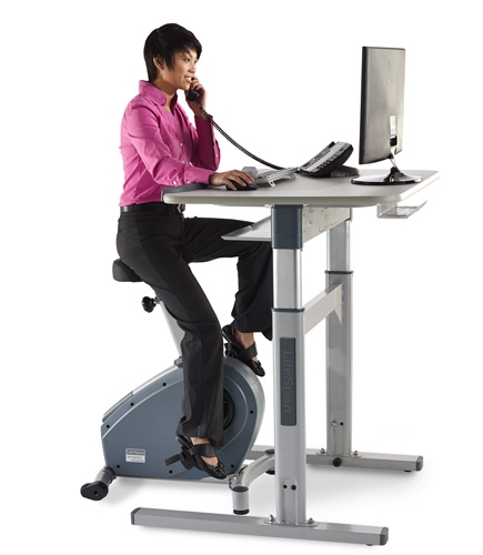Lifespan Cs Dt7 Upright Exercise Bike Desk
