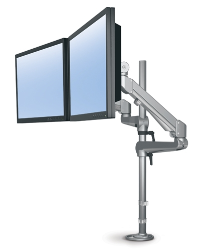 ESI EDGE Lite Pole Mount Dual Monitor Arm : MA ESI EDGE2 16LITE 2 Ergonomics <strong>at Work</strong> from www.ergopro.com size 425 x 500 jpeg 42kB