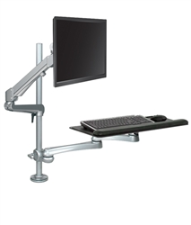 ESI Pole Mounted Adjustable Workstation | Standing workstation