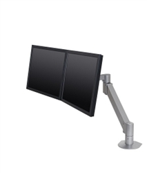 Innovative Dual Monitor Arm- horizontal or vertical.