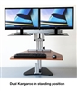 Dual Kangaroo Sit Stand Workstation