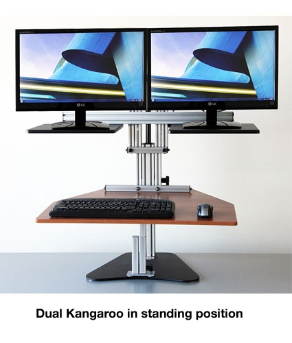 Superb Dual Kangaroo Sit Stand Workstation Home Interior And Landscaping Analalmasignezvosmurscom