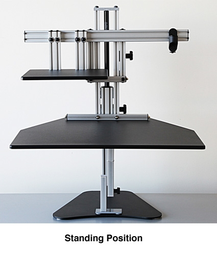 Sit Stand Workstation Work Standing Up Monitor Laptop Stand