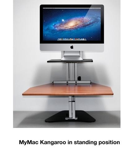 Mymac Kangaroo Sit Stand Workstation For Imacs