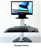 Kangaroo Sit Stand Workstation with Monitor Shelf