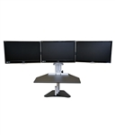 Kangaroo Elite Desktop Sit Stand Desk- Triple Monitor