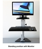 Kangaroo Junior Sit Stand Workstation with Monitor Shelf