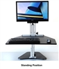 Kangaroo Pro Desktop Sit Stand Workstation with Monitor Mount