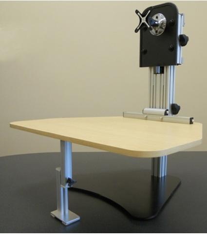Kangaroo Pro Desktop Sit Stand Workstation With Monitor Mount