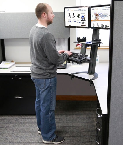 Health Postures Taskmate Go Sit Stand Desk Burn Calories