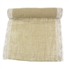 "Decorative 17"" Inch Wide Colored Burlap Fabric Hessian Lace Craft Table Runner Roll, Hemp Jute, Natural"