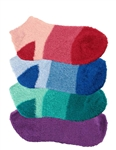 Women's Super Aloe Infused Fuzzy Nylon Socks - 4 Pair