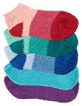 Women's Super Aloe Infused Fuzzy Nylon Socks - 5 Pair
