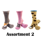 Animal Socks - Assortment 2 - 3 Pair Value Pack