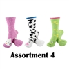 Animal Socks - Assortment 4 - 3 Pair Value Pack