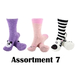 Animal Socks - Assortment 7 - 3 Pair Value Pack