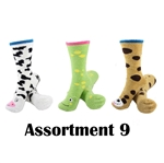 Animal Socks - Assortment 9 - 3 Pair Value Pack