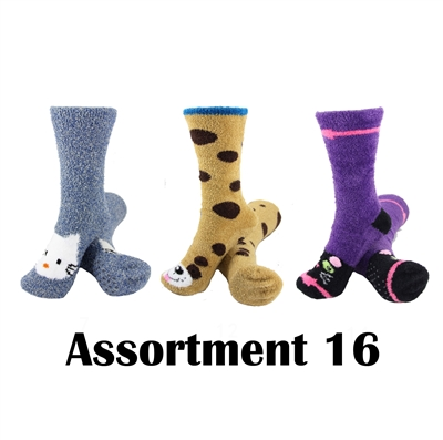 Animal Socks - Assortment 16 - 3 Pair Value Pack