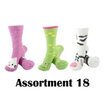 Animal Socks - Assortment 18 - 3 Pair Value Pack