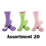 Animal Socks - Assortment 20 - 3 Pair Value Pack