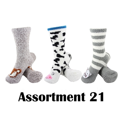 Animal Socks - Assortment 21 - 3 Pair Value Pack