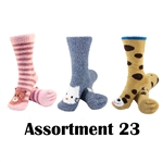Animal Socks - Assortment 23 - 3 Pair Value Pack