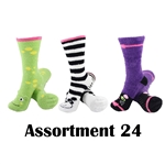 Animal Socks - Assortment 24 - 3 Pair Value Pack