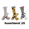 Animal Socks - Assortment 26 - 3 Pair Value Pack
