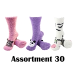 Animal Socks - Assortment 30 - 3 Pair Value Pack
