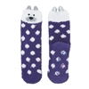 Fuzzy Animal Crew Socks, Polar Bear