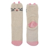 Fuzzy Animal Crew Socks, Kitty
