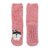 Fuzzy Animal Crew Socks, Raccoon