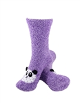 Animal Socks - Purple Panda Socks