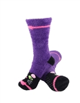 Animal Socks - Purple Cat Socks