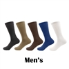 Men's Rayon from Bamboo Fiber Mid-Calf Socks - 4 Pair