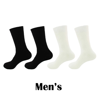Men's Extra Thick Rayon from Bamboo Fiber Mid-Calf Socks - 4 Pair