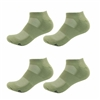 Rayon from Bamboo Olive Army Green Ankle Socks