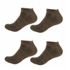 Rayon from Bamboo Brown Ankle Socks